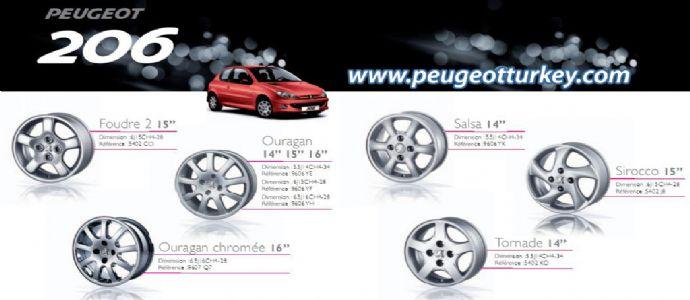 Peugeot 206 Jant ve Lastik Seçim Kılavuzu